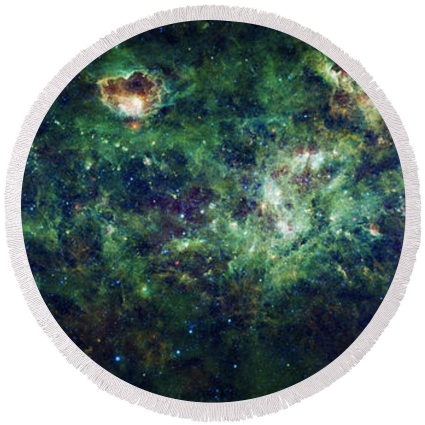 3scape Round Beach Towel featuring the photograph The Milky Way by Adam Romanowicz