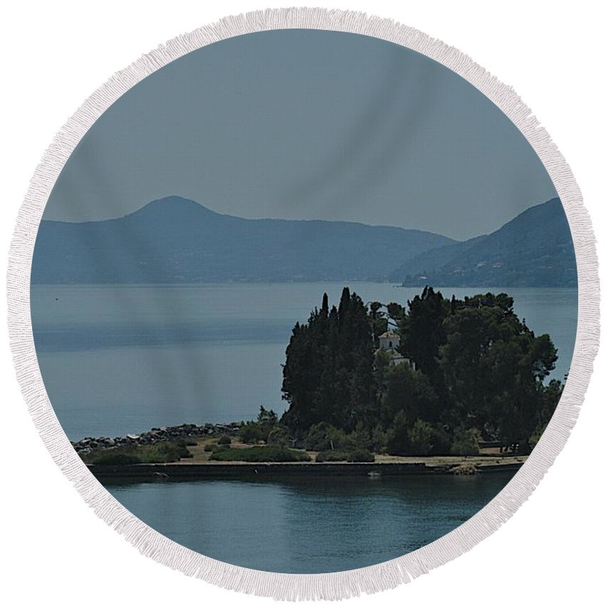 Adriatic Round Beach Towel featuring the photograph The Most Beautiful by Joseph Yarbrough