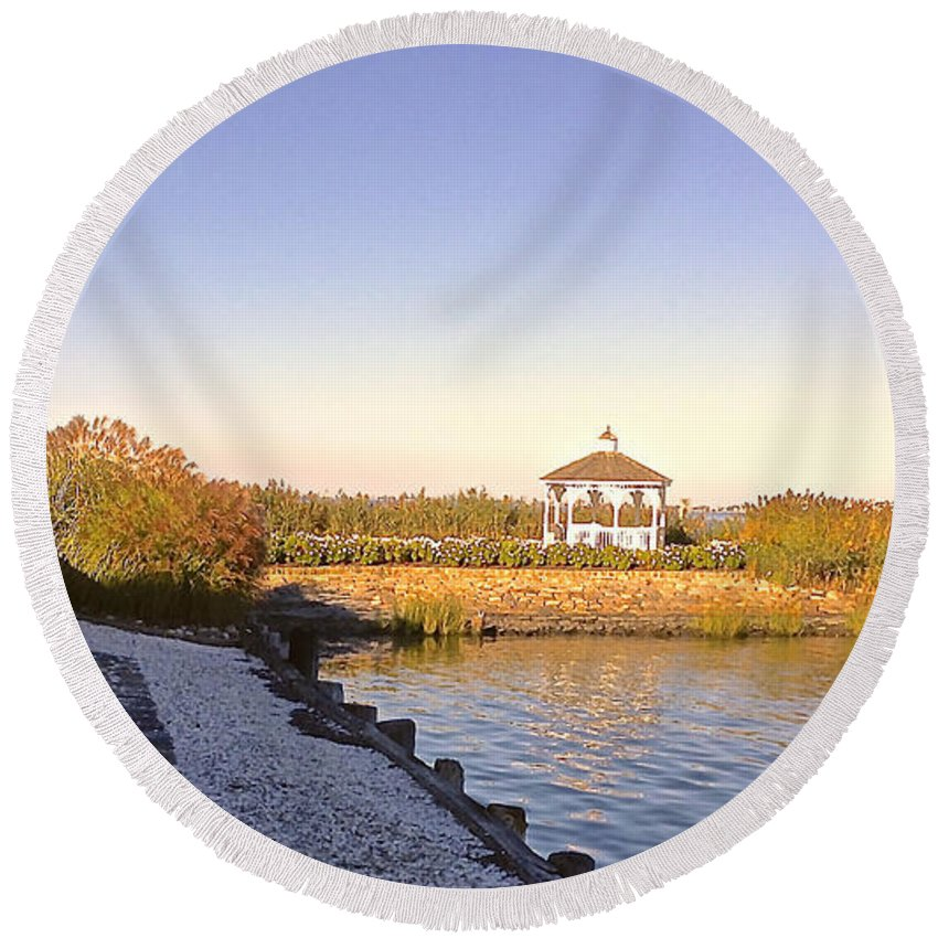 Path Round Beach Towel featuring the photograph The Path That Leads To Home by Christy Gendalia