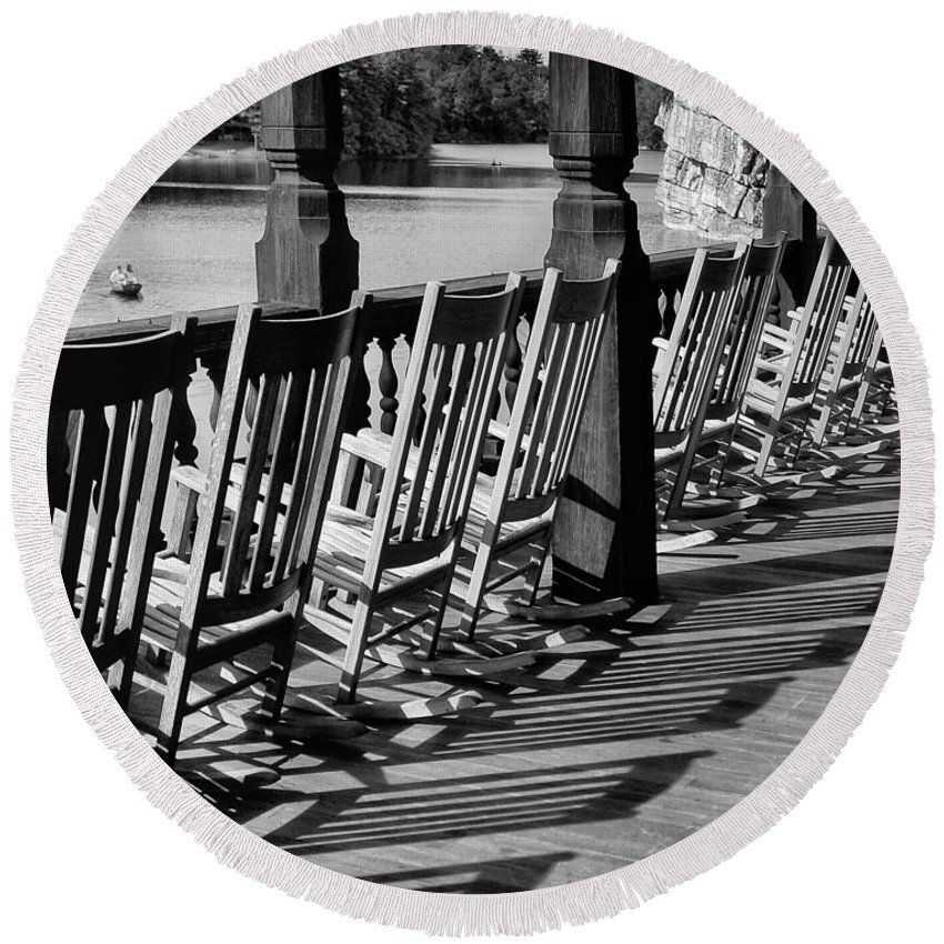 Be Round Beach Towel featuring the photograph The Porch by Claudia Kuhn