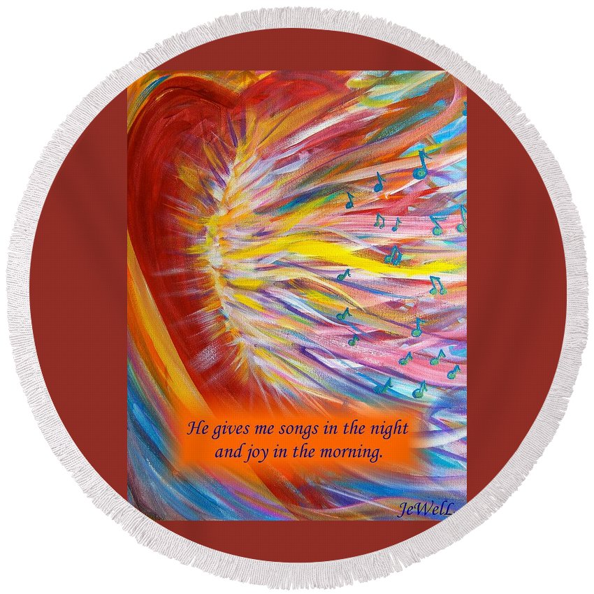 Prophetic Song Round Beach Towel featuring the digital art The Prophetic Song by Jewell McChesney