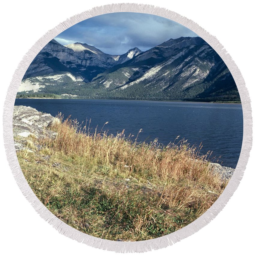 Bennett Lake Round Beach Towel featuring the photograph The Rugged Yukon by Roderick Bley
