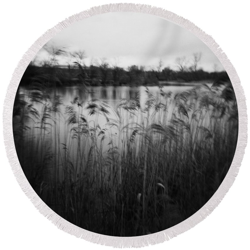 Holga Round Beach Towel featuring the photograph The Softness Of Nature by Verana Stark