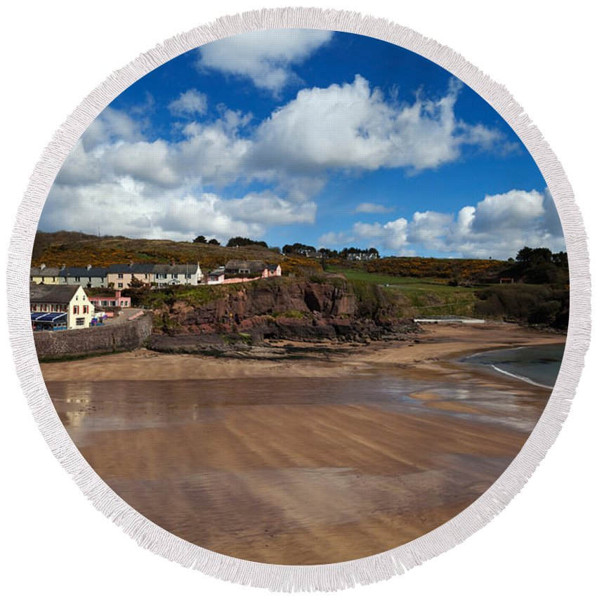 Dunmore East Round Beach Towels