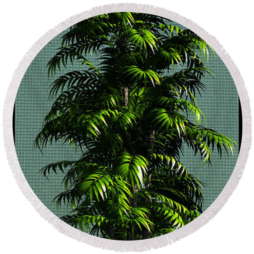 Still Life Round Beach Towel featuring the digital art The Tree... by Tim Fillingim