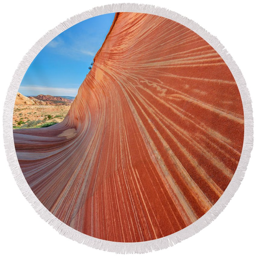 the wave in the north coyote buttes round beach towel for sa