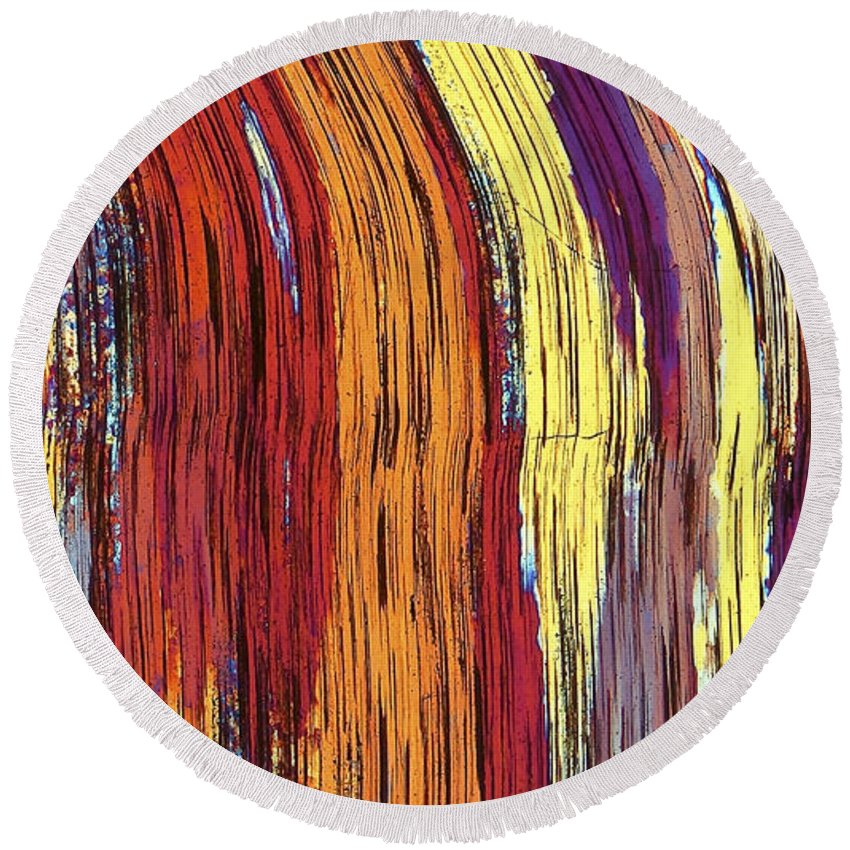 Abstract Round Beach Towel featuring the photograph Tiger's Eye 12 by Bernardo Cesare