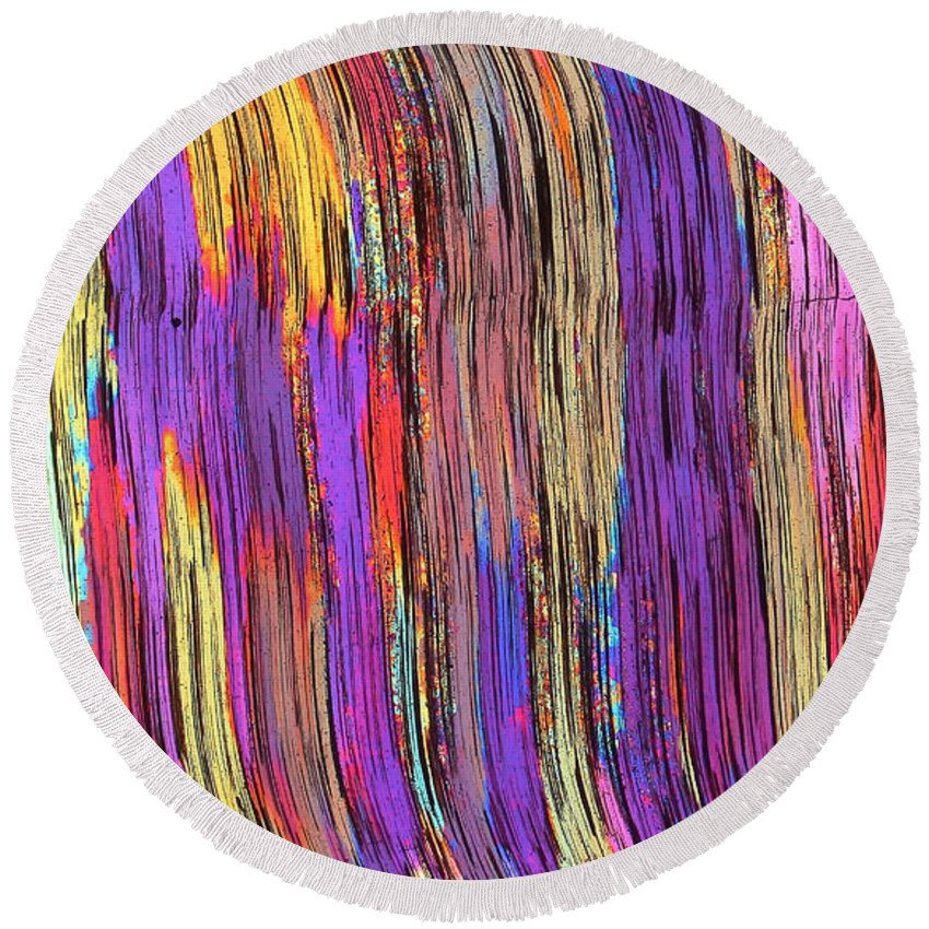 Abstract Round Beach Towel featuring the photograph Tiger's Eye 13 by Bernardo Cesare