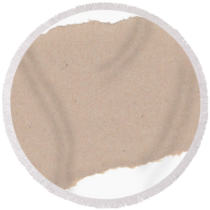 Blank Round Beach Towel featuring the photograph Torn Paper by Tim Hester
