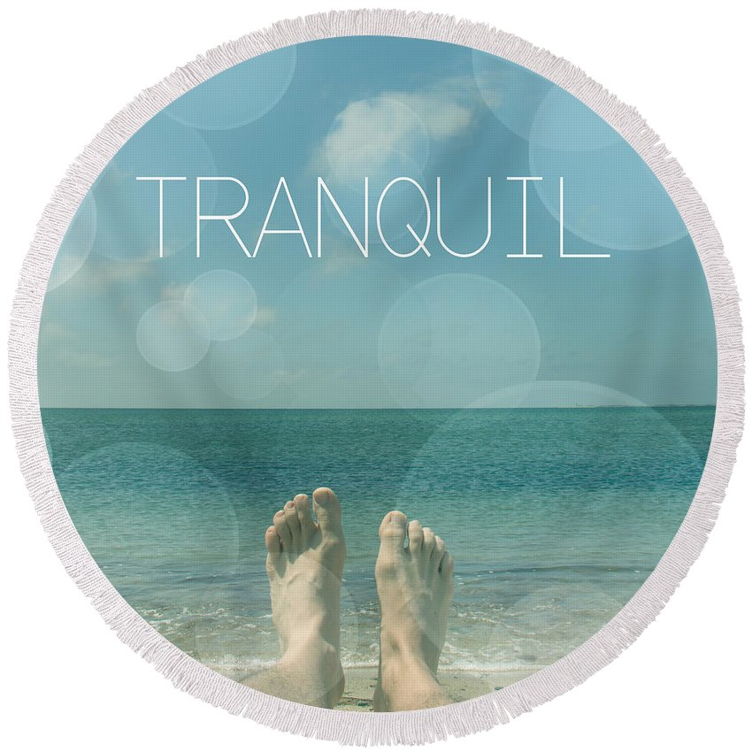 Relaxing Round Beach Towel featuring the photograph Tranquil by Mark Ashkenazi