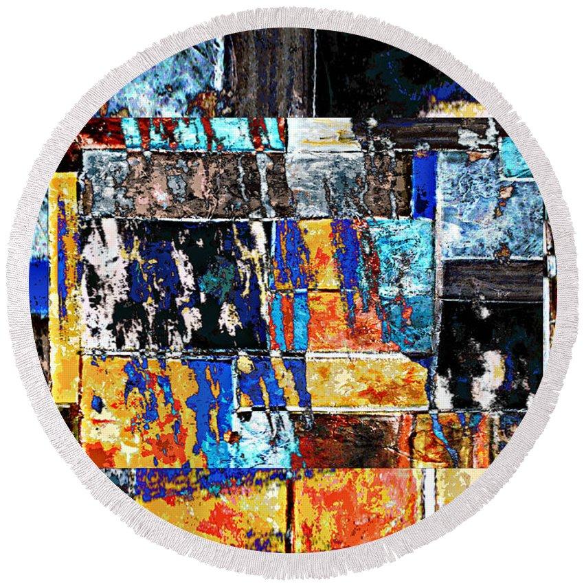 Digital Image Round Beach Towel featuring the digital art Transformation by Yael VanGruber