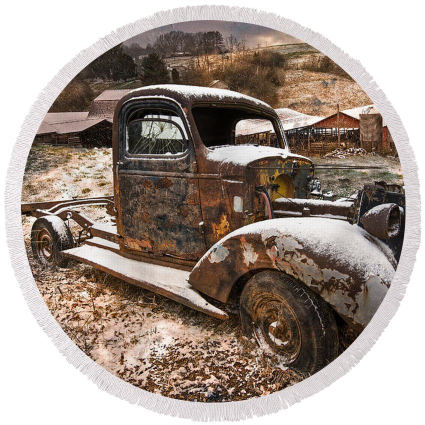 Appalachia Round Beach Towel featuring the photograph Treasures by Debra and Dave Vanderlaan