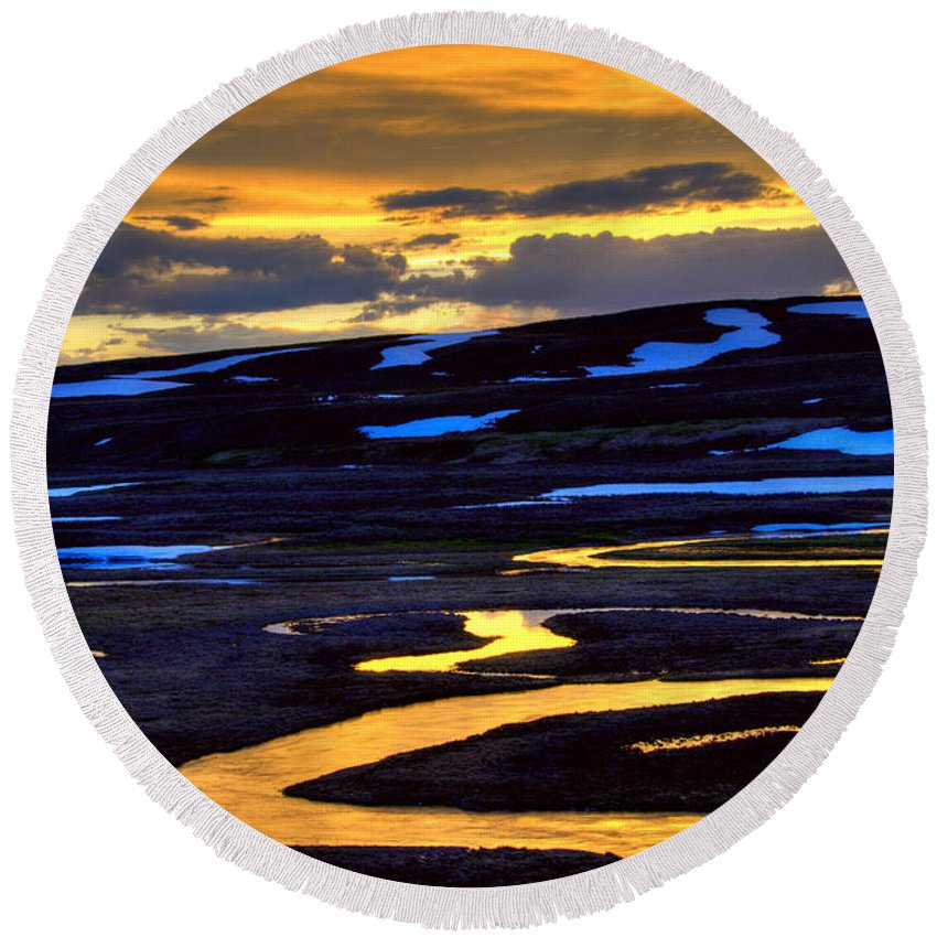 Trout Creek Round Beach Towel featuring the photograph Trout Creek by Steve Stuller