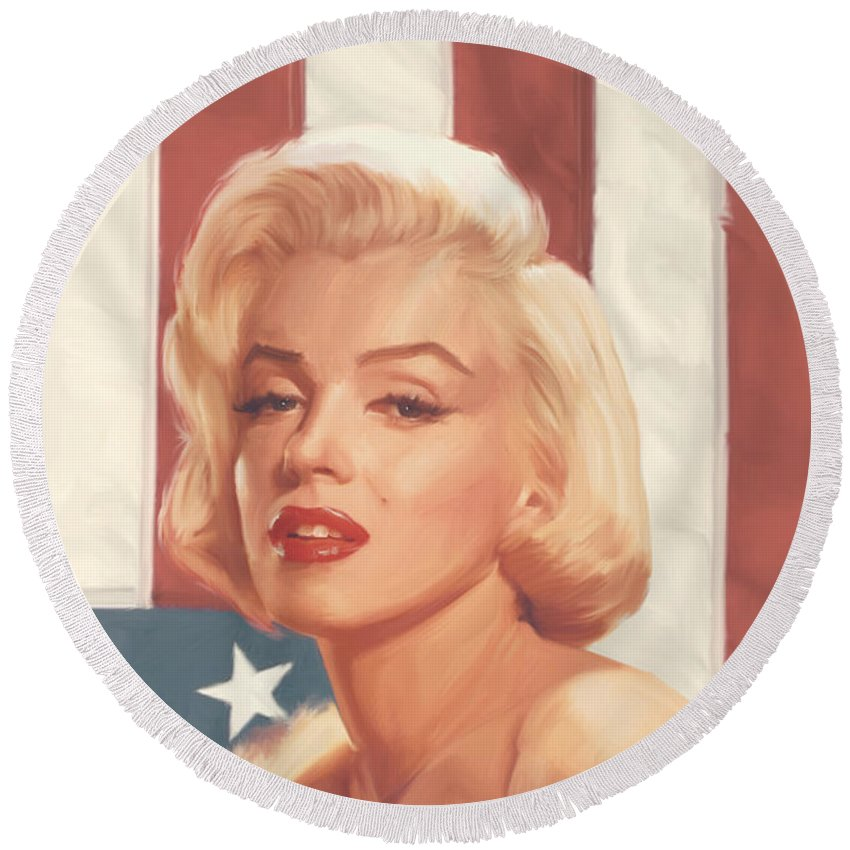 Marilyn Monroe Round Beach Towels
