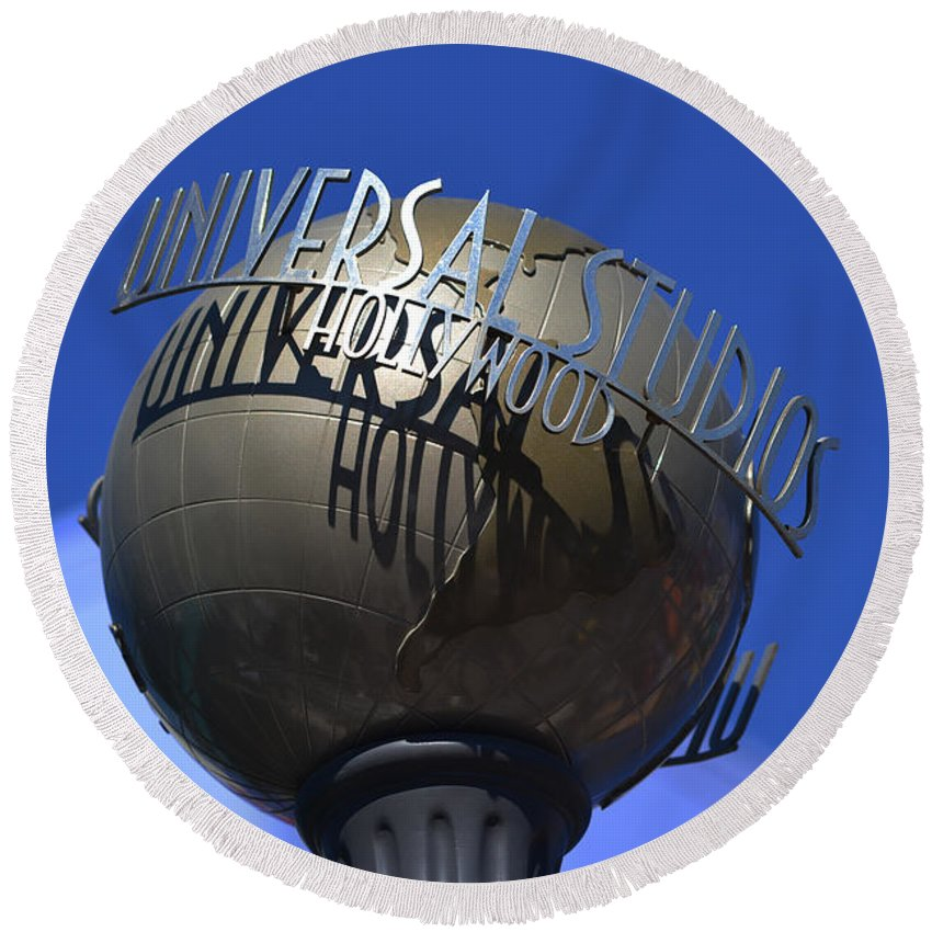 Universal Studios Round Beach Towel featuring the photograph Universal Studios by Tommy Anderson