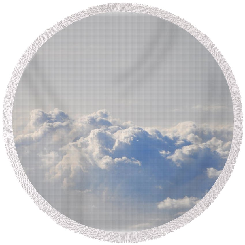 Up Round Beach Towel featuring the photograph Up In The Clouds by Bill Cannon