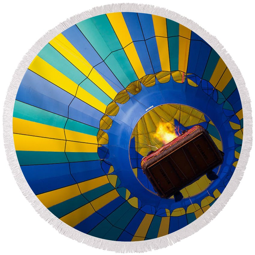 America Round Beach Towel featuring the photograph Up Up And Away by Inge Johnsson