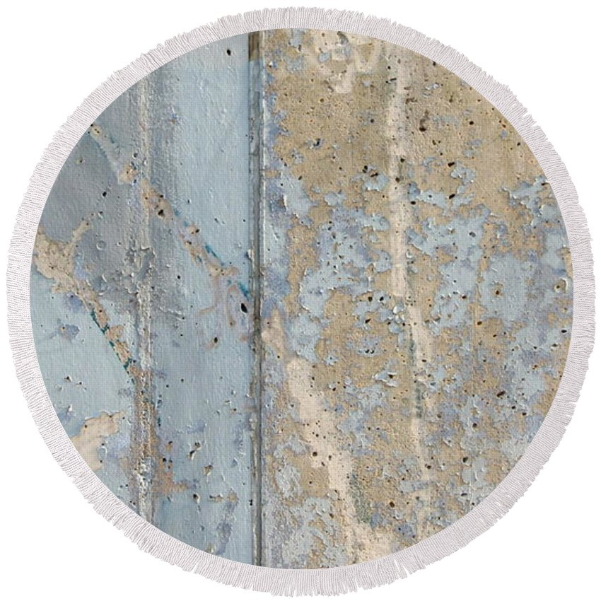 Urban Round Beach Towel featuring the photograph Urban Abstract Concrete 3 by Anita Burgermeister