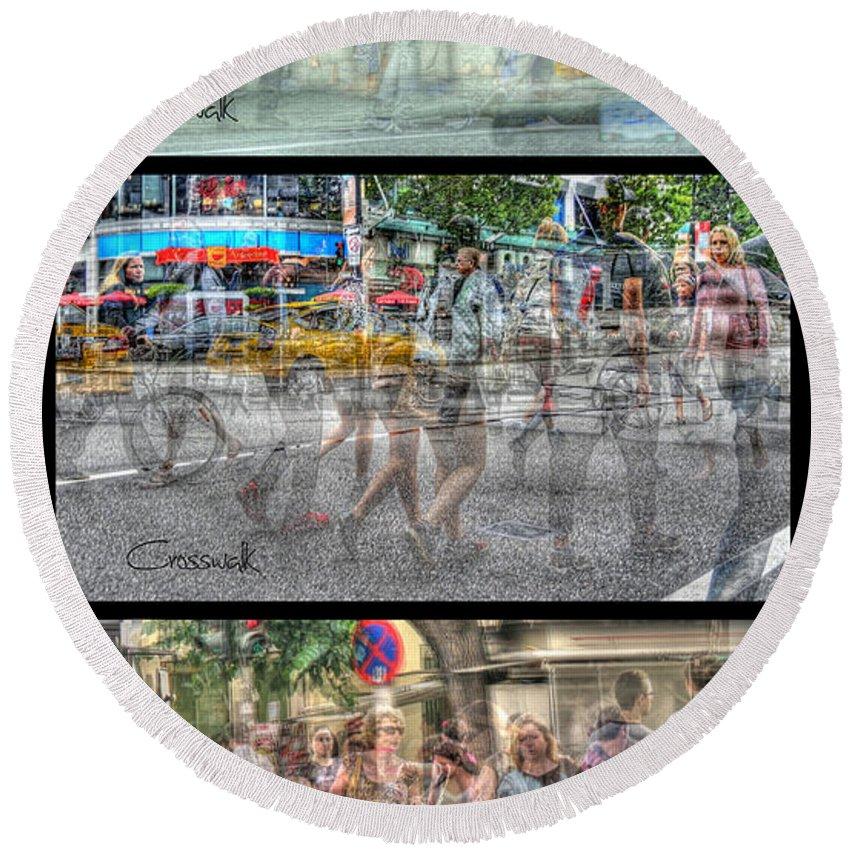 City Round Beach Towel featuring the photograph Urbanatomy - Flow by Doug Matthews