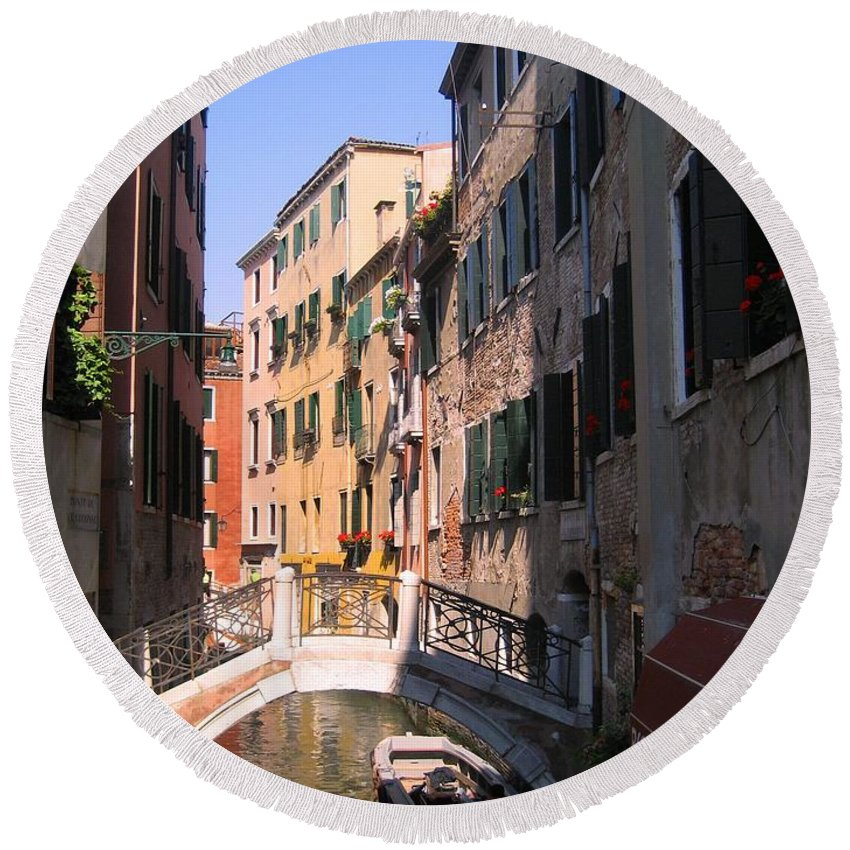 Venice Round Beach Towel featuring the photograph Venice by Dany Lison