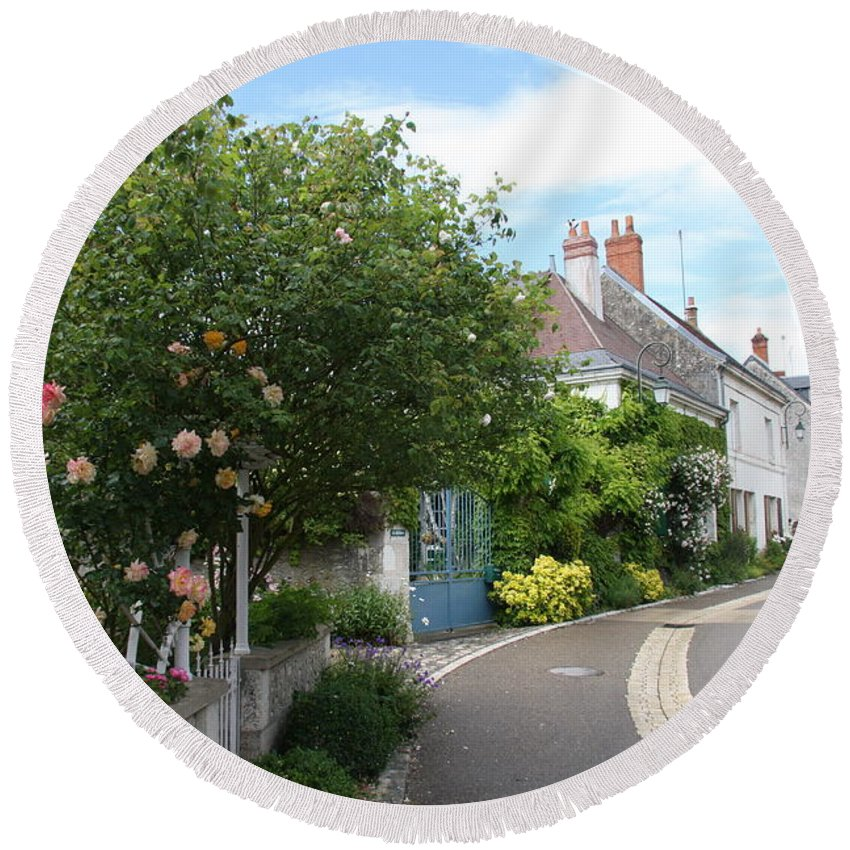 Village Round Beach Towel featuring the photograph Village Road by Christiane Schulze Art And Photography