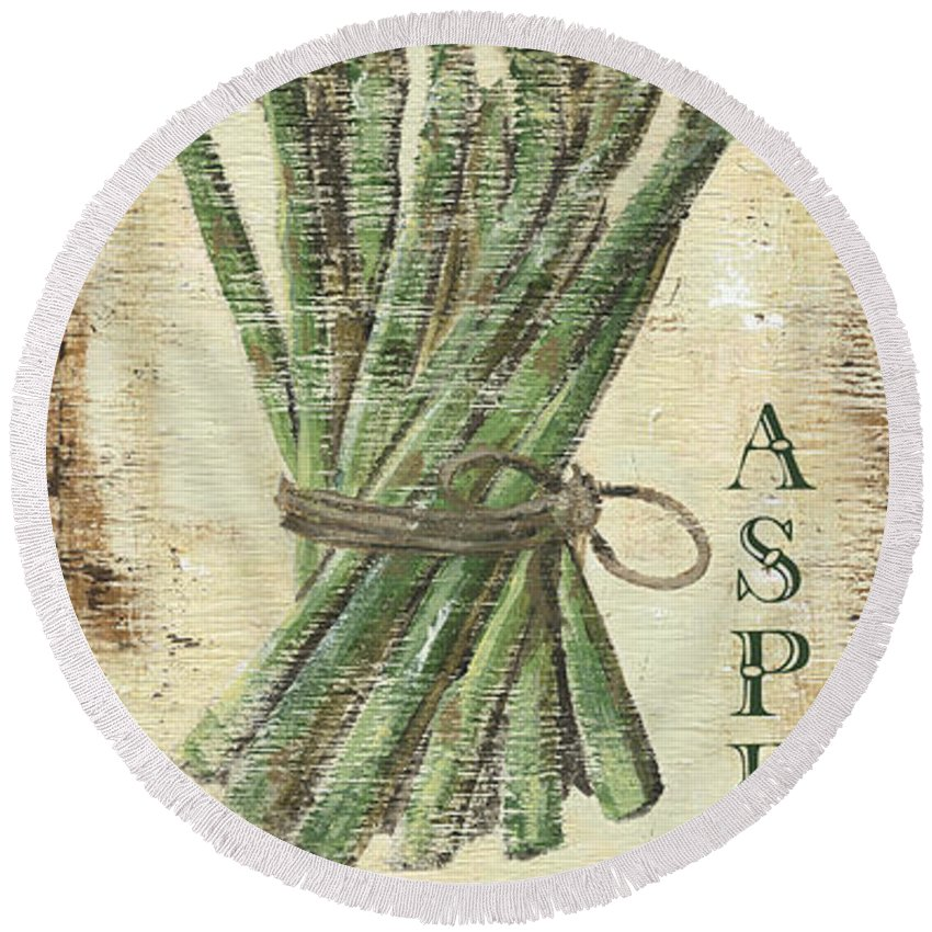 Asparagus Round Beach Towels