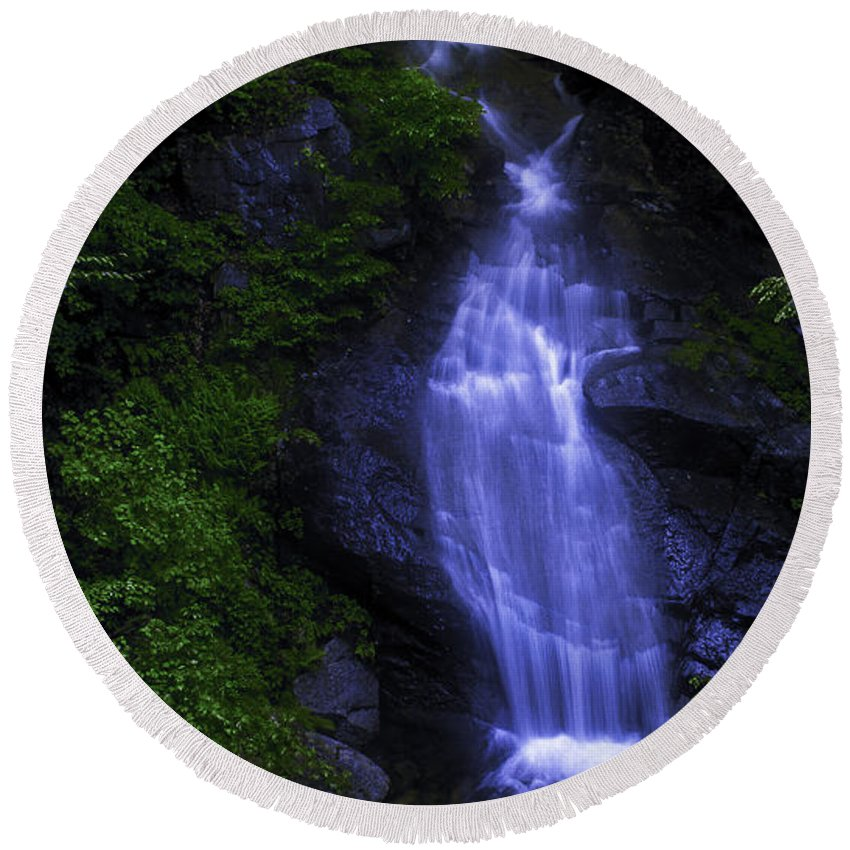 Color Toned Round Beach Towel featuring the photograph Waterfall by Billy Bateman