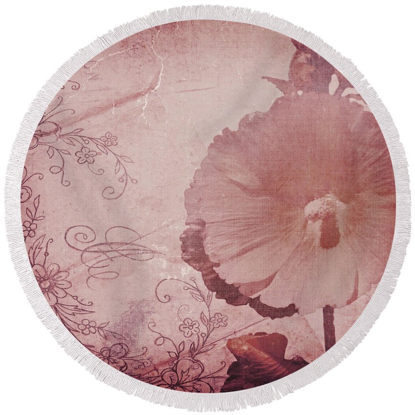 ~vintage Round Beach Towel featuring the photograph What You Really Love - Vintage Art by Jordan Blackstone