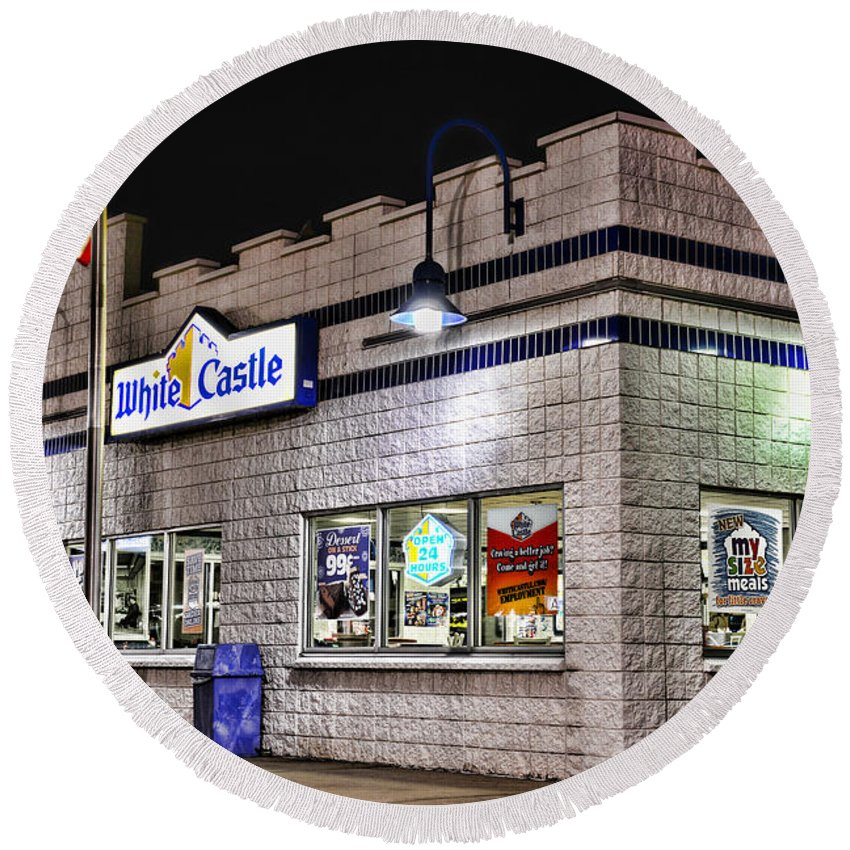 Paul Ward Round Beach Towel featuring the photograph White Castle by Paul Ward