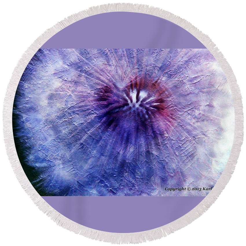 Flowers Round Beach Towel featuring the photograph White Flower by Karl Rose