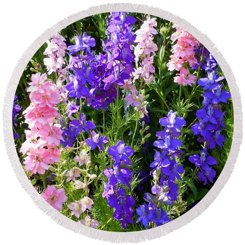 Wildflowers Round Beach Towel featuring the photograph Wildflowers #15 by Robert ONeil