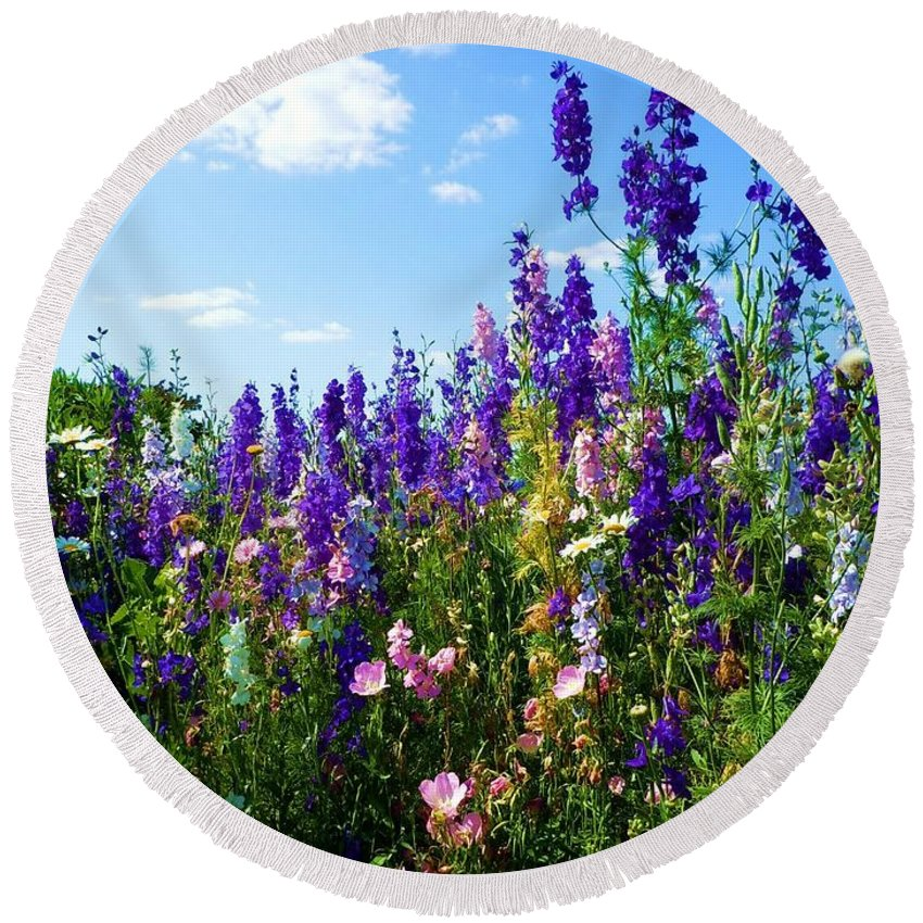 Wildflowers Round Beach Towel featuring the photograph Wildflowers #9 by Robert ONeil