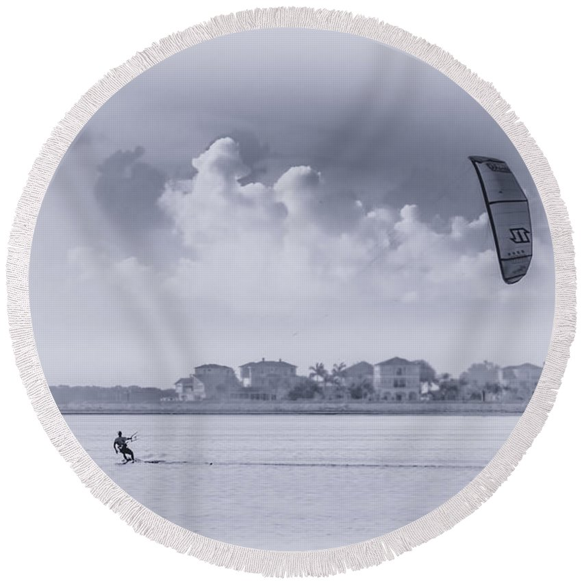 Wind Beneath My Wing Round Beach Towel featuring the photograph Wind Beneath My Wing by Marvin Spates