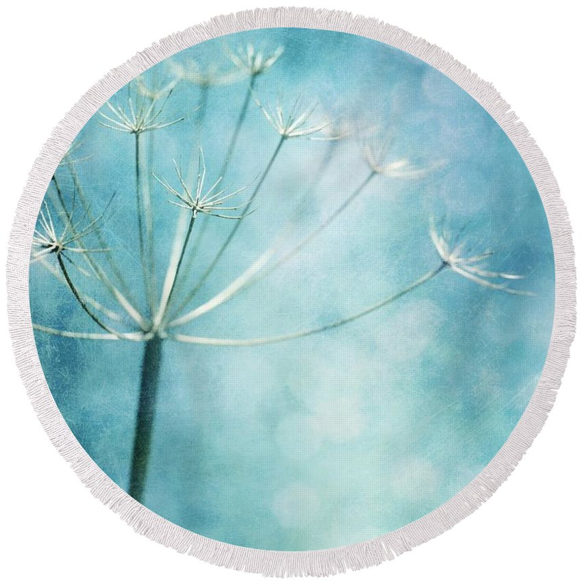 Winter Round Beach Towel featuring the photograph Winter Colors by Priska Wettstein