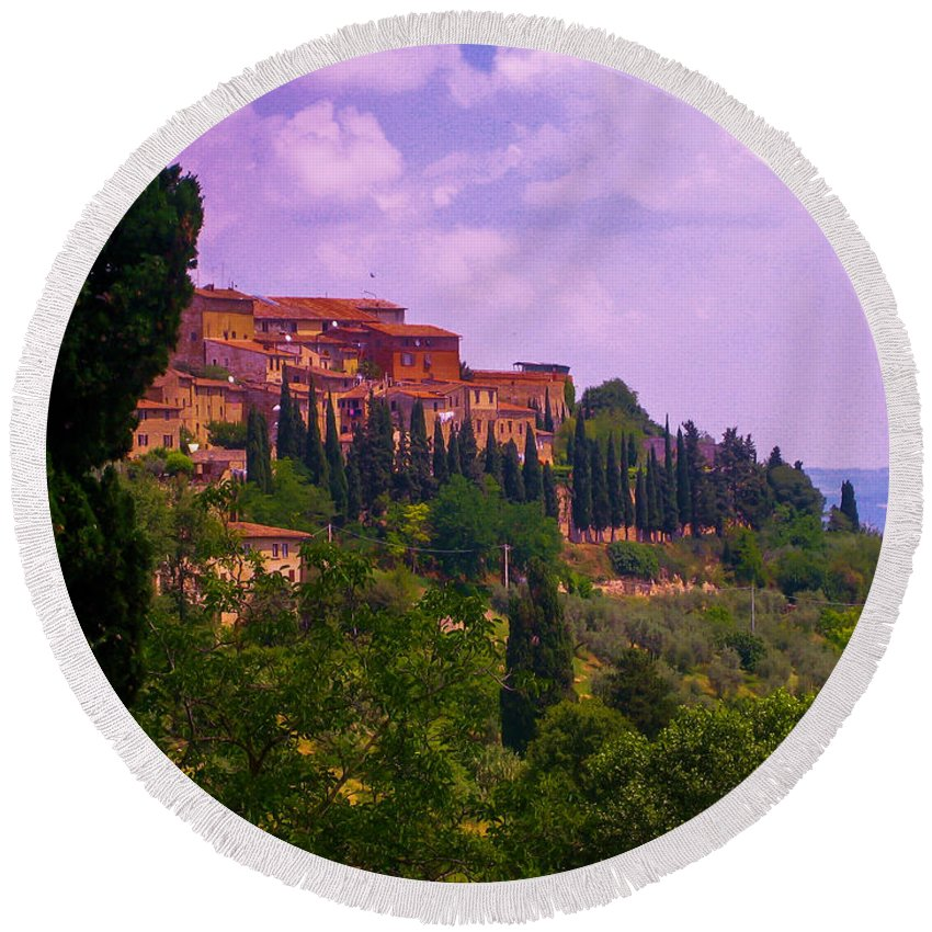 Tuscany Round Beach Towel featuring the photograph Wonderful Tuscany by Dany Lison