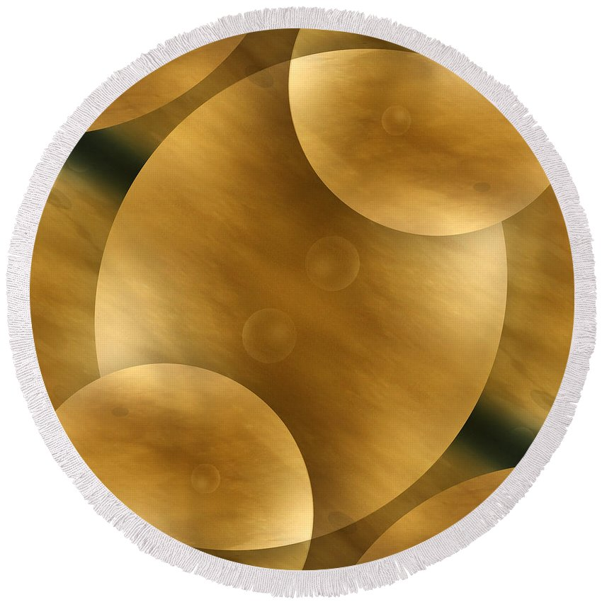Abstract Round Beach Towel featuring the photograph Worlds Collide 10 by Mike McGlothlen