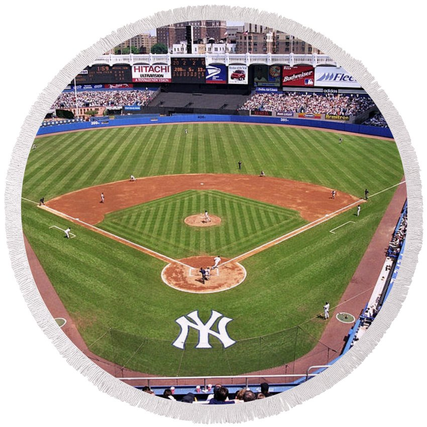 Yankee Stadium Round Beach Towels