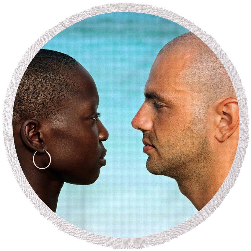 Man Round Beach Towel featuring the photograph Yin Yang by Skip Hunt