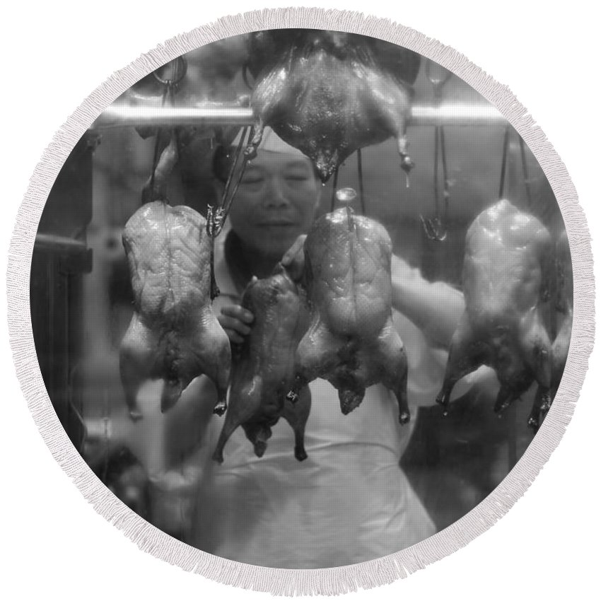 Vancouver Round Beach Towel featuring the photograph You Chicken by The Artist Project