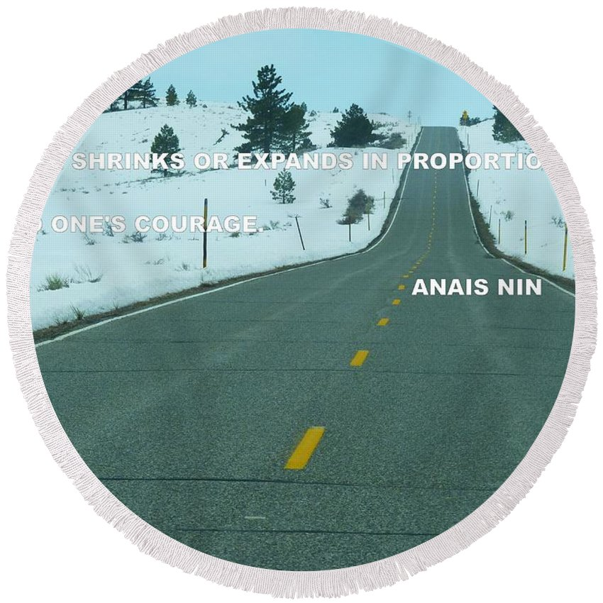 Round Beach Towel featuring the photograph Your Road by Anthony Walker Sr