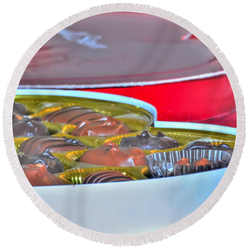 Round Beach Towel featuring the photograph 01 Valentines Series by Michael Frank Jr