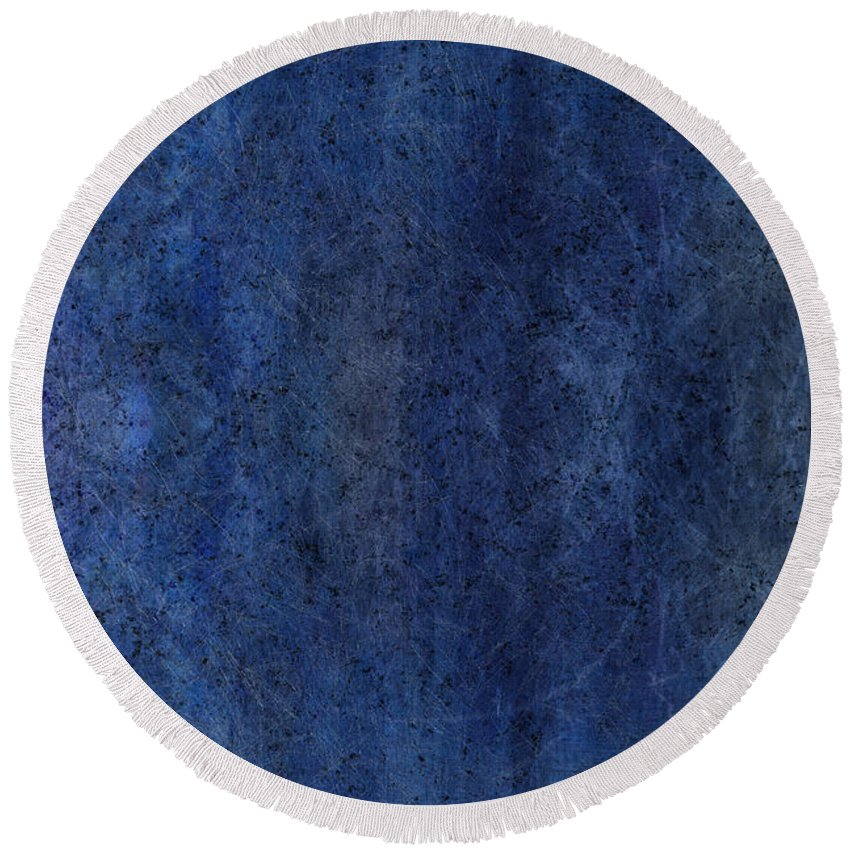 Celestial Round Beach Towel featuring the painting Celestial Bodies by Christopher Gaston