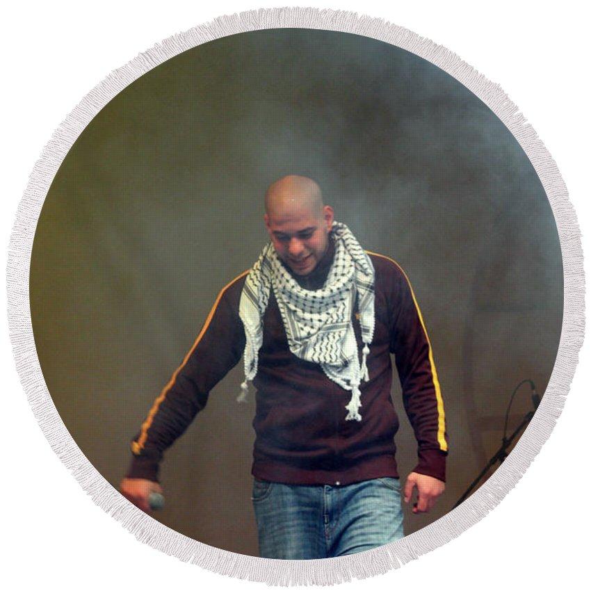 Danny Round Beach Towel featuring the photograph Danny Fresh by Munir Alawi