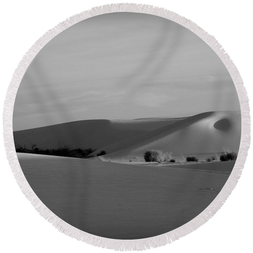 New Mexico Round Beach Towel featuring the photograph Dunes 6 by Sean Wray