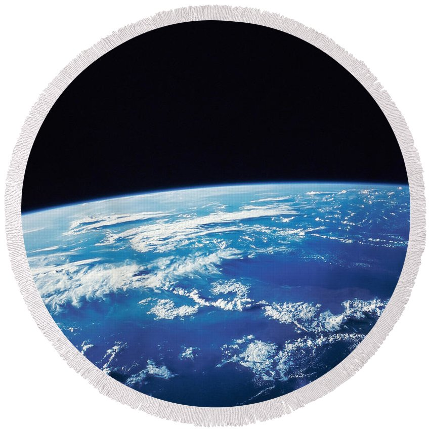 Color Image Round Beach Towel featuring the photograph Earth From Space by Stocktrek Images