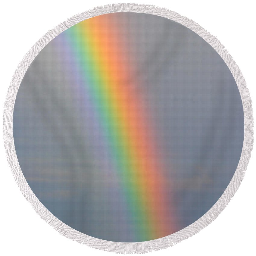 Rainbow Round Beach Towel featuring the photograph Rainbow Communications by James BO Insogna