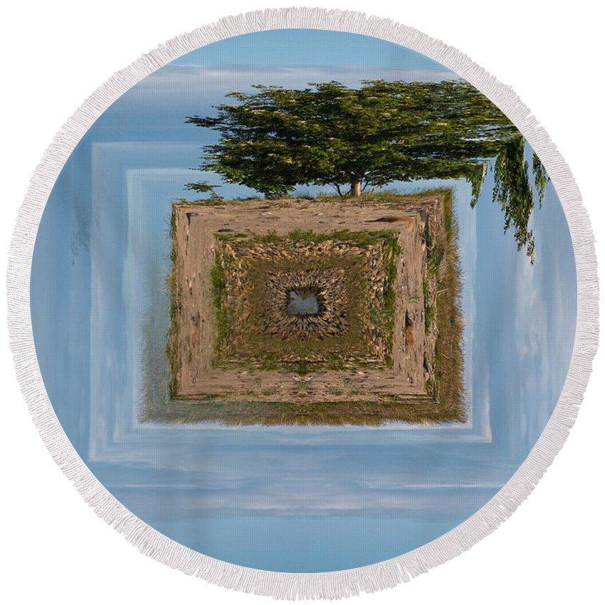 Gulf Of Bothnia Round Beach Towel featuring the photograph Rowan Of The Island by Jouko Lehto