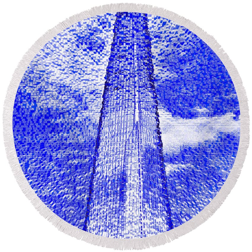 Shard Round Beach Towel featuring the digital art The Shard by David Pyatt