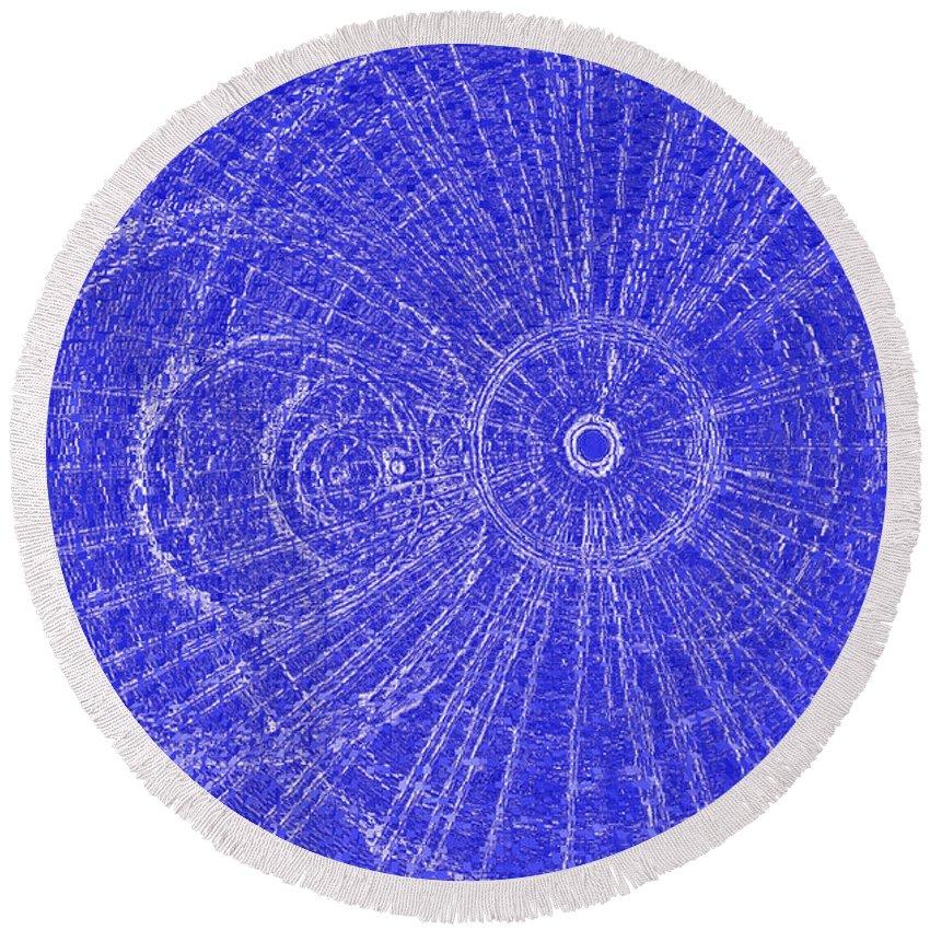 Metal Round Beach Towel featuring the digital art Circle Art by David Pyatt