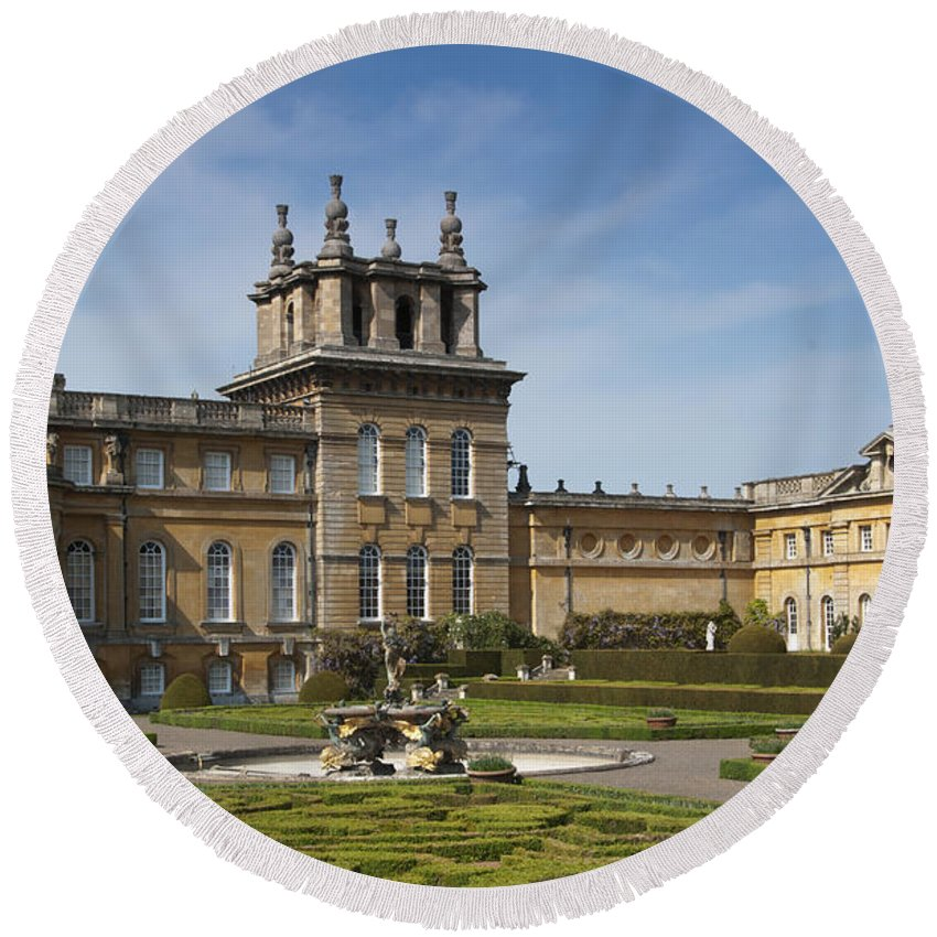 2011 Round Beach Towel featuring the photograph Blenheim Palace by Andrew Michael